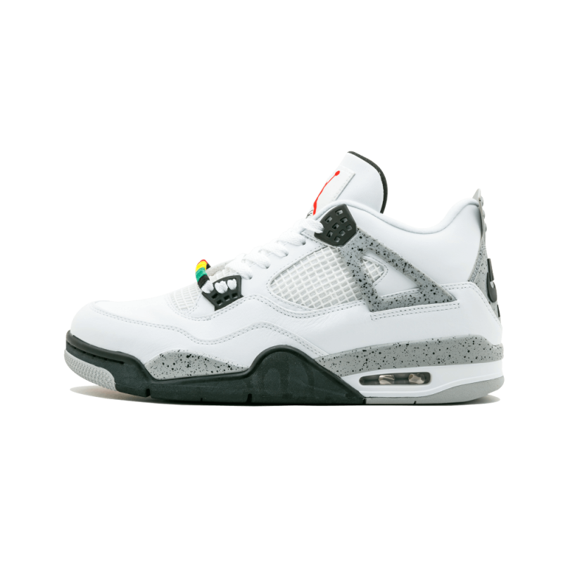 """Jordan 4 And Fly 89 Pack """"Bugging Out"""" White/Fire Red-Cement Grey 840606-192"""